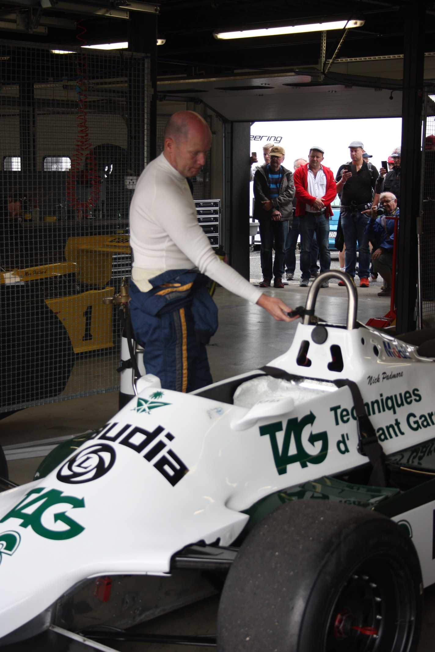 Nick Padmore na Williamsu FW07C byl nejrychlejším mužem podniku